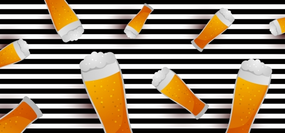 oktoberfest background with glasses of beer  glasses with drink against striped backdrop, Octoberfest, Background, Beer Background image