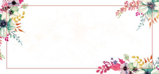 वसंत फूल पानी के रंग की पृष्ठभूमि, पानी के रंग का, पत्ता, फूल पृष्ठभूमि छवि