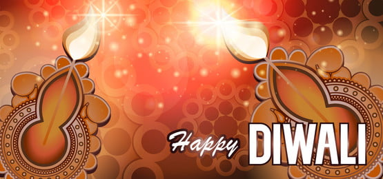 top view of social media header or banner design decorated with illuminated oil lamps on glossy background for happy diwali celebration, Diwali, Background, Happy Background image