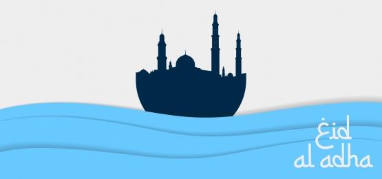 मस्जिद आभूषण के साथ इस्लामिक दिन ईद अल अदहा का वेक्टर बैनर डिजाइन, इस्लाम, डिजाइन, मुबारक पृष्ठभूमि छवि
