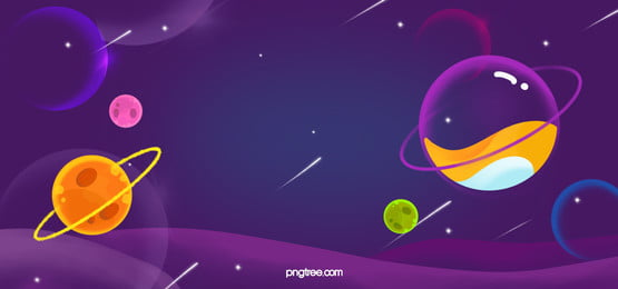 Starry purple bubble planet universe hand drawn illustration, Hand Painted, Copyrighted, Star Background image