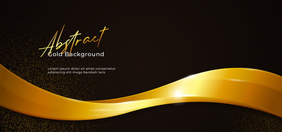 golden sparkling abstract fluid wave vector illustration with gold glitter on dark black paper background  poster banner template design, Wave, Abstract, Fluid Background image