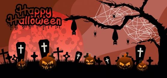 hạnh phúc halloween bí ngô trên nền mộ, Khủng Bố, Ác, Nền Ảnh nền