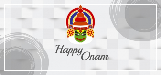 happy onam in grey style, Happy Onam, Grey, Kerala Background image