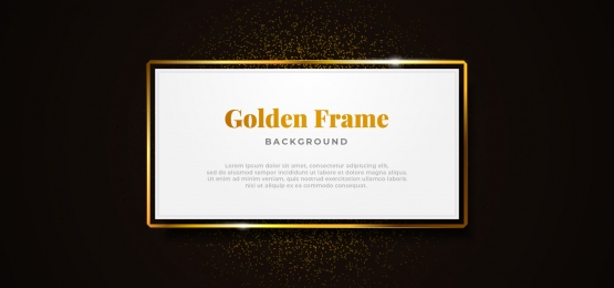 white paper board golden sparkling box frame with gold glitter decoration vector illustration  professional banner template design, White, Board, Show Background image