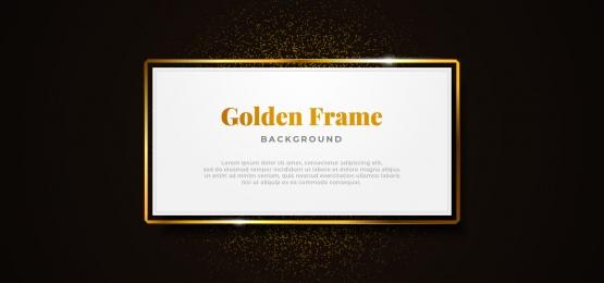 bảng giấy trắng khung vàng lấp lánh với vàng long lanh trang trí vector minh họa banner thiết kế mẫu chuyên nghiệp, Trắng., Bảng, Chỉ Ảnh nền