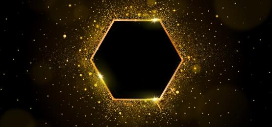 khung lục giác lấp lánh vàng, Hộp Vàng, Ống Kính Có Pháo Sáng, Khung Vàng đen Ảnh nền
