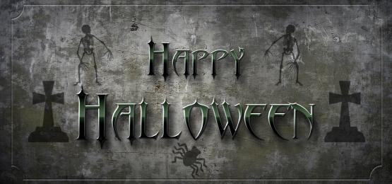 bahagia halloween dengan latar belakang dinding gelap menyeramkan dan imej bayangan, Halloween, Menyeramkan, Gelap imej latar belakang