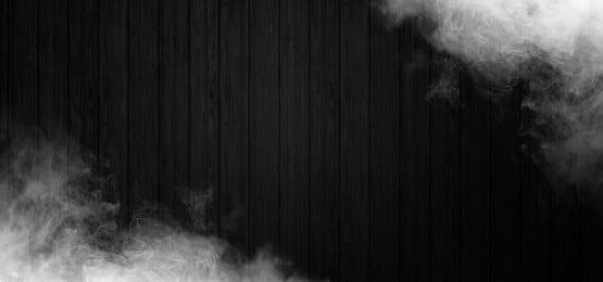fumaça no fundo de madeira preto, Fumo, Fundo, Banner Imagem de fundo