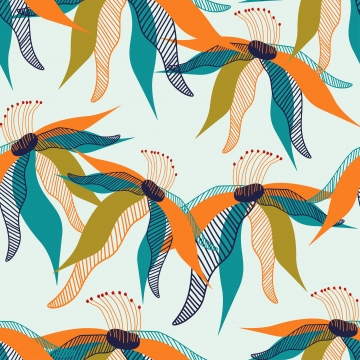 trendy floral seamless pattern , Floral, Pattern, Scandinavian Background image