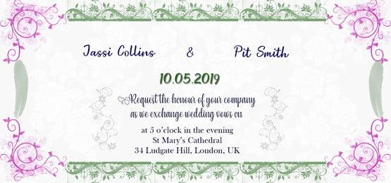 सफेद पुष्प शादी का निमंत्रण पृष्ठभूमि डिजाइन, शादी, पुष्प, डिजाइन पृष्ठभूमि छवि
