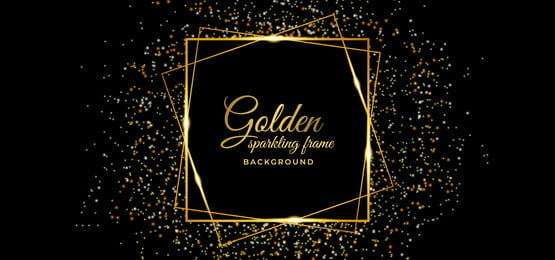 background with golden sparkling square frame, Frame, Golden, Background Background image