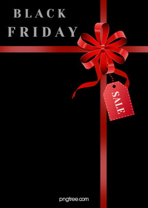 red bow decoration black friday background , Label, Bow, Black Background image
