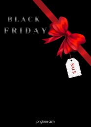 red decorative black friday black background , Label, Bow, Black Background image