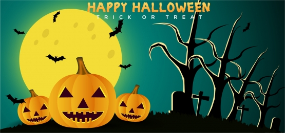 halloween horror background with pumpkin and moon, Event, Treat, Tree Background image