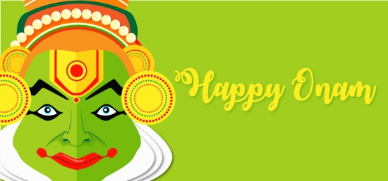 happy onam with kathakali face background, Onam Festival, Onam, Onam Wishes Background image
