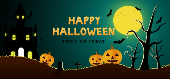 horror halloween background with house and pumpkin, Event, Treat, Tree Background image