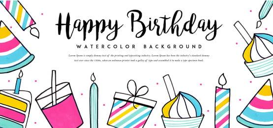 जल रंग जन्मदिन की पृष्ठभूमि, पानी के रंग का, रंग, रंग पृष्ठभूमि छवि