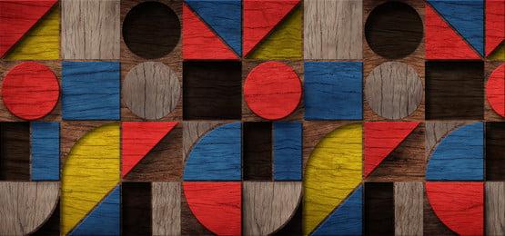 forma de madera 3d abstracta hacia arriba con estilo colorido, 3d, Geometric, Grupo Imagen de fondo