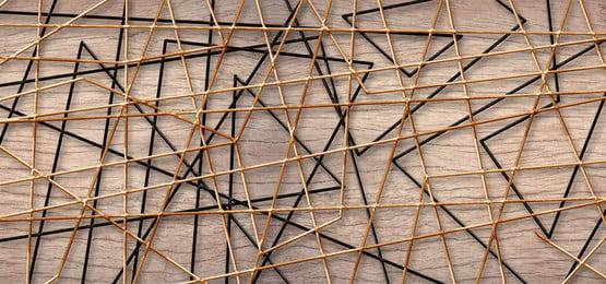 लकड़ी की पृष्ठभूमि के साथ सार जाली लाइनें, 3 डी, ज्यामितीय, पैनल पृष्ठभूमि छवि