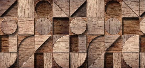 अमूर्त लकड़ी यथार्थवादी छाया के साथ बिखर जाती है, 3 डी, ज्यामितीय, पैनल पृष्ठभूमि छवि