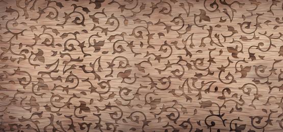 लकड़ी के पैनल पृष्ठभूमि में सजावटी फूल पैटर्न, 3 डी, ज्यामितीय, पैनल पृष्ठभूमि छवि