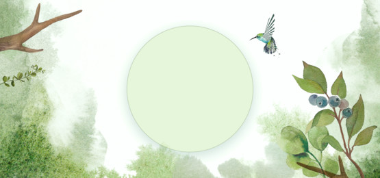 green forest and bird watercolor background, Green, Leaf, Leaves Background image