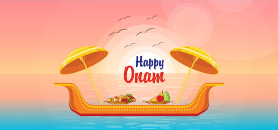 happy onam in the beach background, Race, Pongal, Boating Background image