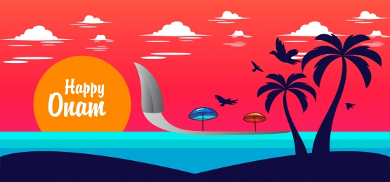 happy onam sunset background, Race, Pongal, Boating Background image
