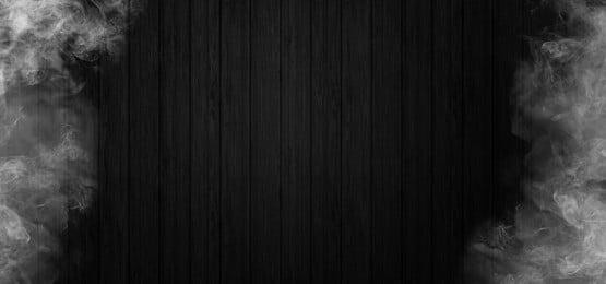 木製の黒い背景に煙します。, 煙, 背景, 旗 背景画像