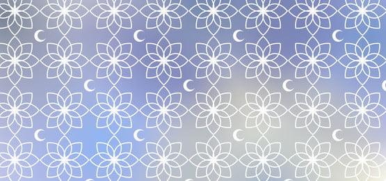 चंद्रमा और इस्लामिक आभूषण के साथ वॉलपेपर पैटर्न ढाल नीला, रमजान, इस्लाम, मुस्लिम पृष्ठभूमि छवि