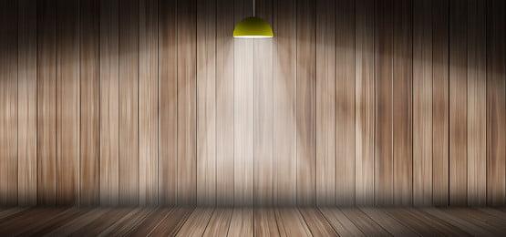 latar belakang panel kayu dengan lampu gantung, 3d, Geometri, Panel imej latar belakang