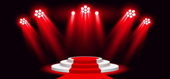 3d podium stage with red carpet lighting background spotlight, Abstract, Art, Backdrop Background image