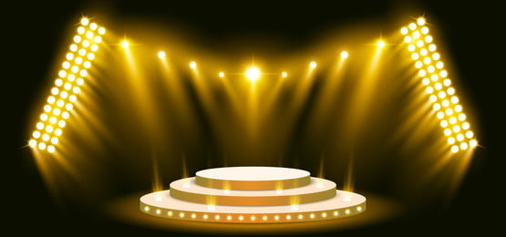 3d stage yellow light on background spotlight effect, 3d, Abstract, Advertising Background image