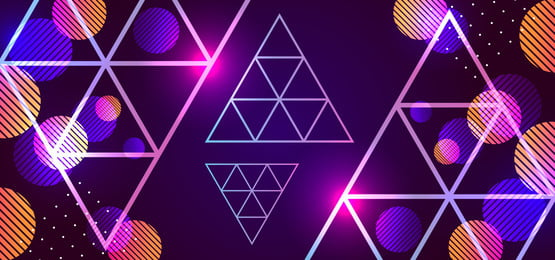 abstract background with 80s style geometric triangle, Memphis, Gradient, Abstract Background image