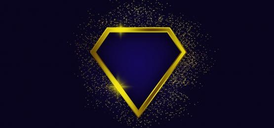 चमकदार सोने के हीरे के फ्रेम और स्पार्कलिंग सोने के कणों के साथ पृष्ठभूमि, सोने, गोल्डन, गोल्डन पृष्ठभूमि पृष्ठभूमि छवि