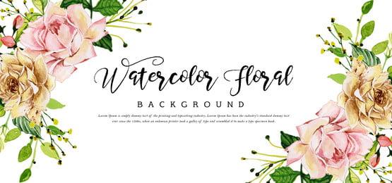 красивая акварель цветочный фон, акварели., цвет, художественные Фоновый рисунок
