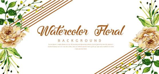 सुंदर पानी के रंग की शादी सुरुचिपूर्ण पुष्प पृष्ठभूमि, पानी के रंग का, रंग, कलात्मक पृष्ठभूमि छवि