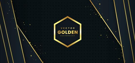 fundo de luxo brochura com vetor de ouro, Brochura, Poster, Ouro Imagem de fundo