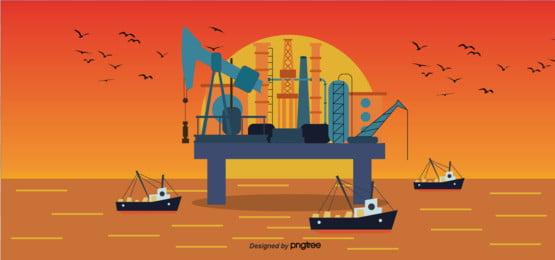 recolección de aceite puesta de sol de fondo, Aceite, Cosechadora De Aceite, Torre Imagen de fondo