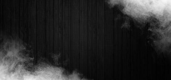 煙と暗い背景の木, 背景, 旗, 煙 背景画像