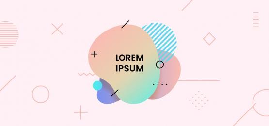 cecair bergaya dinamik bentuk lencana bergaya lencana reka bentuk kecerunan warna cerah lembut cerah dengan unsur geometri latar belakang vektor ilustrasi, Lembut, Abstrak, 3d imej latar belakang