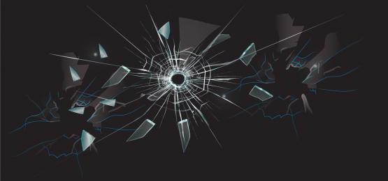 vidro quebrado material de fundo vector, Fundo Escuro, óculos, Quebrado Imagem de fundo