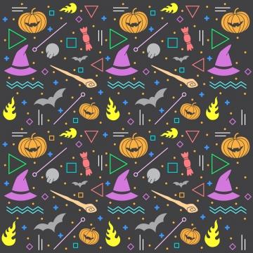 メンフィススタイルのハロウィーンパターン , ハロウィン, パターン, 背景 背景画像
