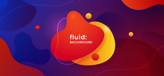liquid geometric shape creative logo badge on dynamic color fluid composition background  trendy modern bubble gradient for social media poster banner template vector illustration, Liquid, Fluid, Abstract Background image