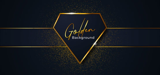 luxury diamond shape golden badge frame vector illustration  dark blue background with ribbon and glitter effect ornament, Diamond, Line, Frame Background image