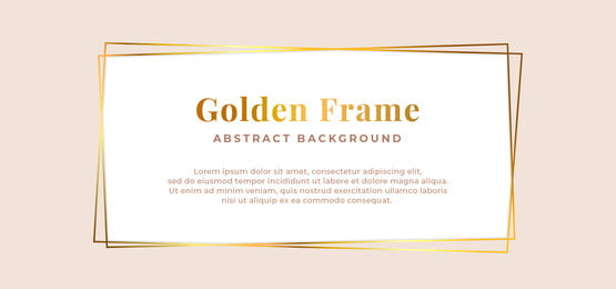 luxury golden frame background template design simple clean, Clean, White, Polygonal Background image