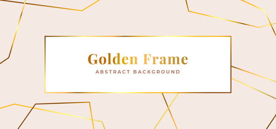 luxury golden polygonal frame background template design  minimal white paper with abstract geometric line ornament vector illustration, Clean, White, Polygonal Background image