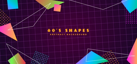 simple futuristic retro 1980s style abstract geometry polygon shape background, Simple, Clean, Polygon Background image