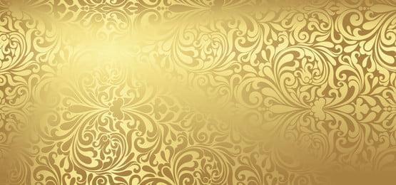 背景花卉圖案時尚金色, 瓦片, 裝潢性的, 裝潢 背景圖片